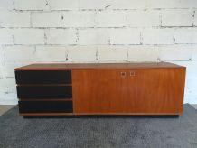 Enfilade Louis Paolozzi teck design moderniste années 60