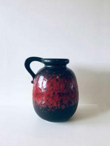 Grand vase fat lava West Germany