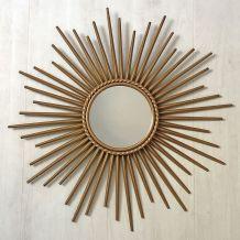 Miroir soleil Chaty Vallauris vintage 60's