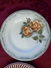 6 assiettes plates en pêle-mêle Sarreguemines