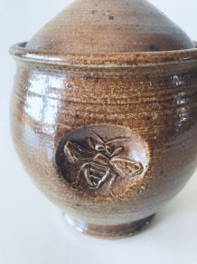 Ancien pot à miel en terre cuite vernissée