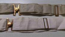 Lot 2 ceintures anciennes (1 coton-1 soie)