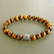 Bracelet Oeil de Tigre / Bouddha