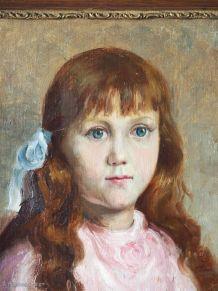 Portrait de fillette encadré