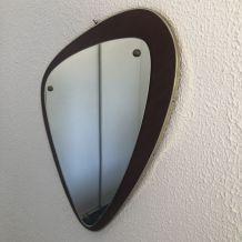 Miroir rétroviseur vintage 1960 - 43 x 35 cm