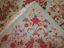 Tapis vintage Persan Kerman fait main, 1C698