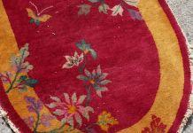 Tapis ancien Chinois Art Deco fait main, 1E08