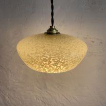 ANCIENNE LAMPE SUSPENSION VERRE DE CLICHY