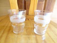 2 verres granité