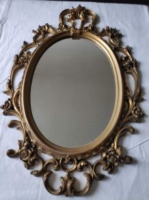 miroir baroque ancien en résine