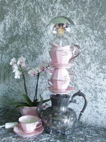 """Ensemble """"Tea Time"""" lampe + bougie + cache pot"""