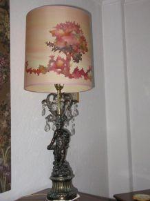 lampe abat jour soie