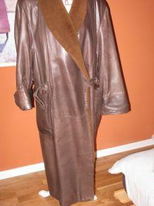 manteau femme cuir