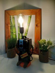 """Lampe à poser récup' """"Kodak Brownie"""""""