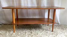 Table basse bois et céramique – années 60