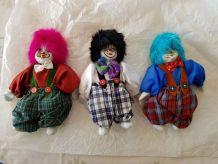 Lot 3 Clowns Porcelaine