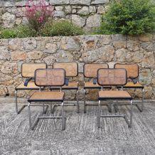 Ensemble chaises et fauteuils Marcel Breuer 1970
