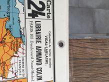 Carte scolaire Vidal Lablache n°24 et 24bis