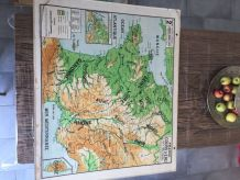 Carte scolaire Vidal Lablache n°2 et 2 bis