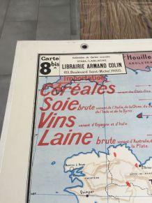 Carte scolaire Vidal Lablache n°8 et 8bis