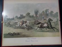 Lithographie chevaux