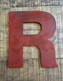Lettre enseigne bois R