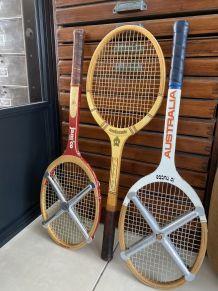 Lot de 3 raquettes de tennis vintage