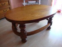 Table salon en chêne massif