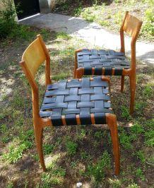Paire de chaises italiennes 1960