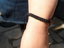 bracelet tressé pierre oeil de tigre