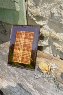 Cadre vintage à poser en verre taillé