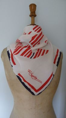 Foulard vintage Ted Lapidus authentique