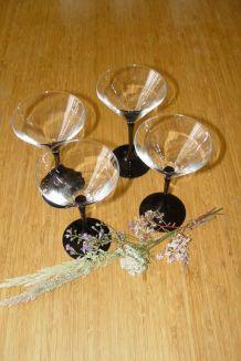 Set de 4 verres à Martini