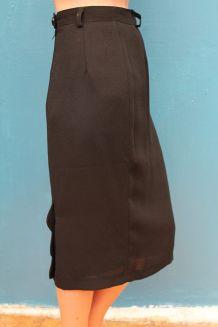 jupe mi longue noir my meja pin-up année 60-70