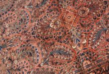 Tapis ancien Persan Sarouk fait main, 1B843