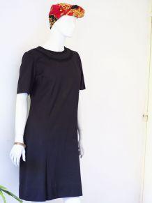 Robe babydoll Mod GoGo Twiggy trapèze noire vintage 60's
