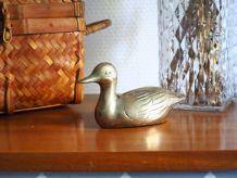 Figurine canard en laiton vintage 70's