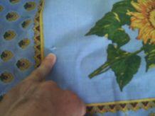 Nappe bleu avec des tournesols