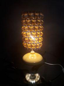 lampe osier  dans le syle scandinave 1970 en  poterie vernis