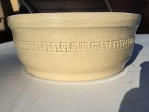 Ancien Saladier en Céramique Beige