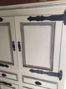 armoire en chêne relooké