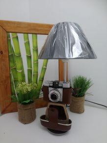 "LAMPE A POSER RECUP' ""APPAREIL PHOTO VINTAGE"""