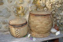 Lot de 2 paniers africains artisanaux