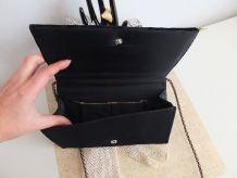 Pochette vintage en velours noir