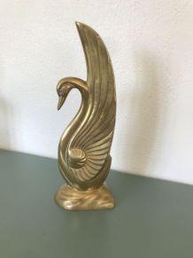 Oiseau / cygne en laiton vintage