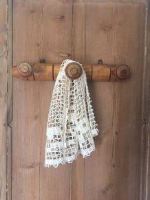 Porte-manteau bois style bambou 3 patères.