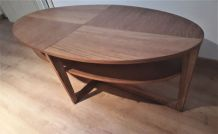 table basse scandinave 130x42x66   1975  vintage tres belle