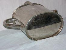 Art Déco: petit arrosoir en métal chromé avec couvercle