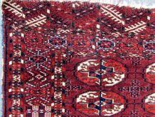 Tapis vintage Turkmène Tekke fait main, 1Q0163