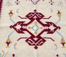 Tapis vintage Indien Dhurri fait main, 1Q0206